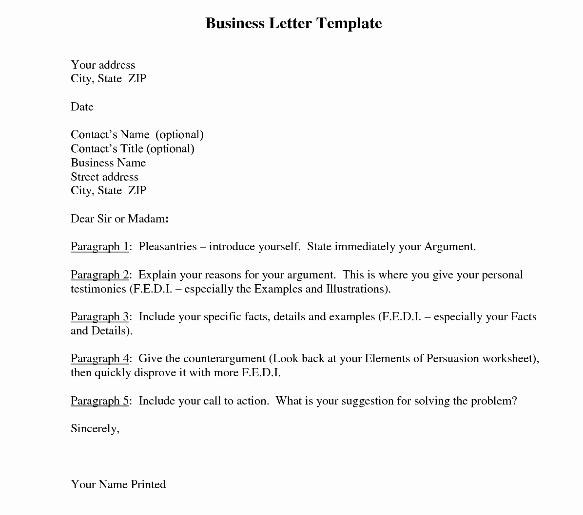 Business Letter Template and their Benefits