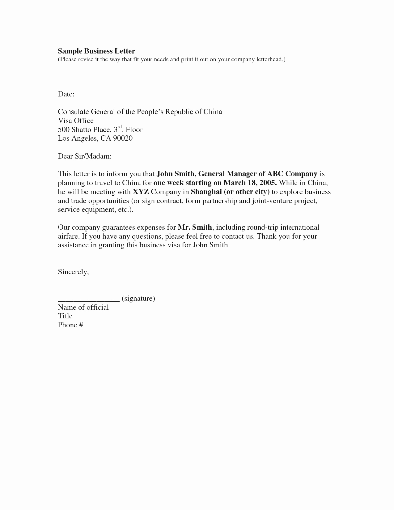 Business Letter Template Free Example Mughals