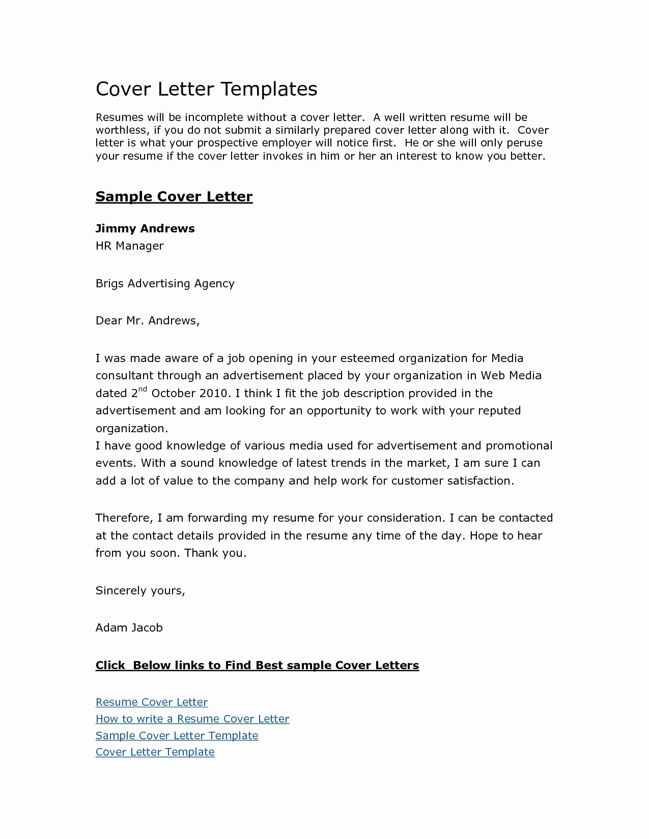 Business Letter Template Free Mughals