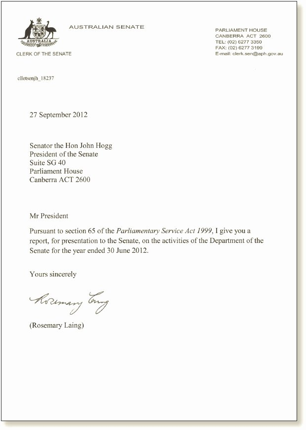 Business Letter Transmittal Template