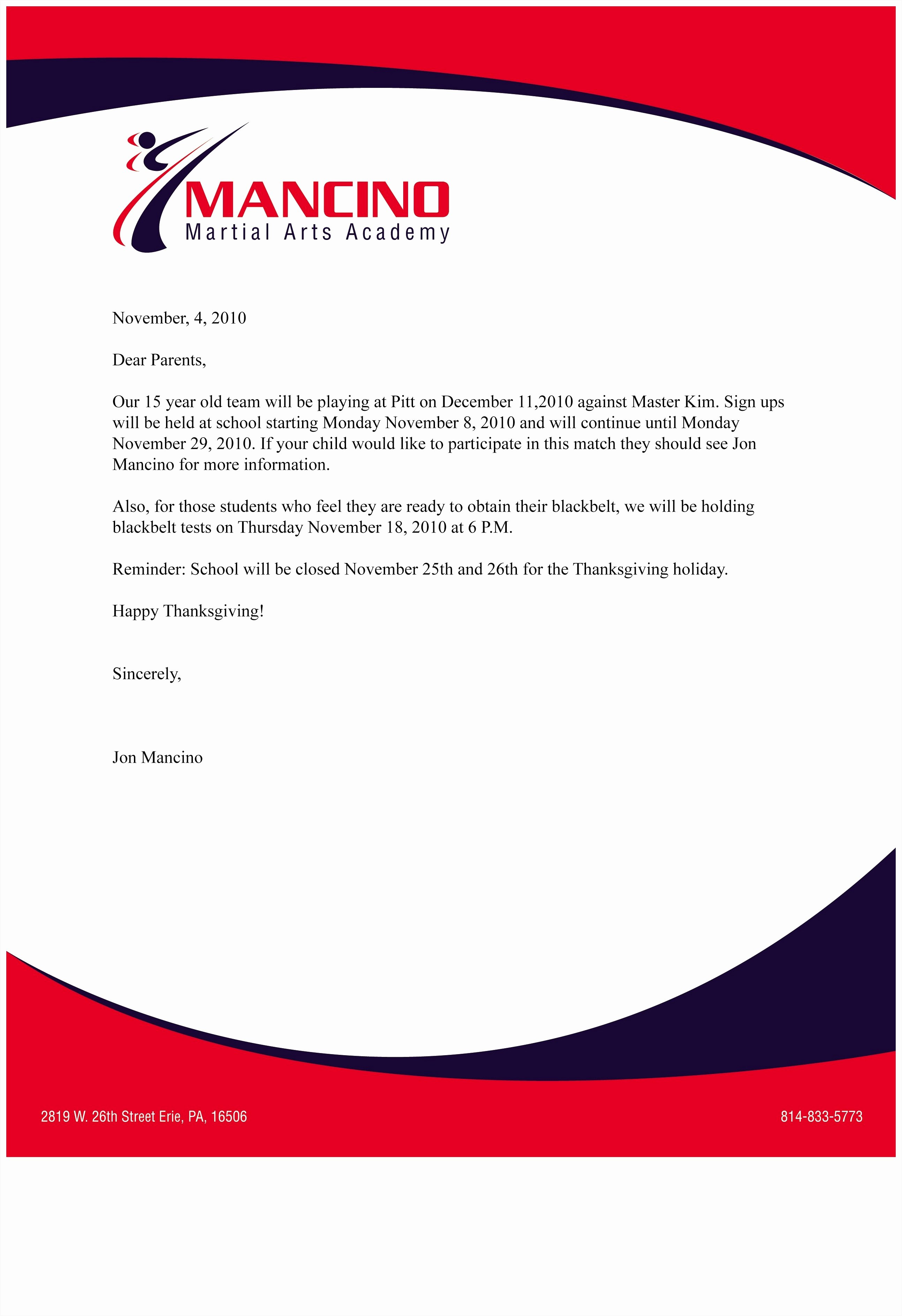 Business Letterhead format Example Mughals