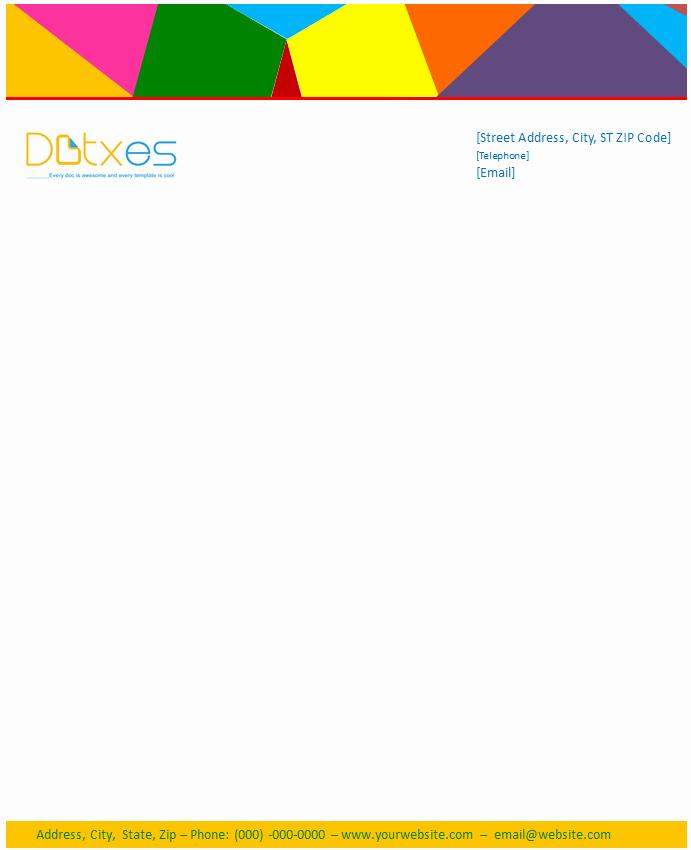 Business Letterhead Template Multi Color Design Dotxes