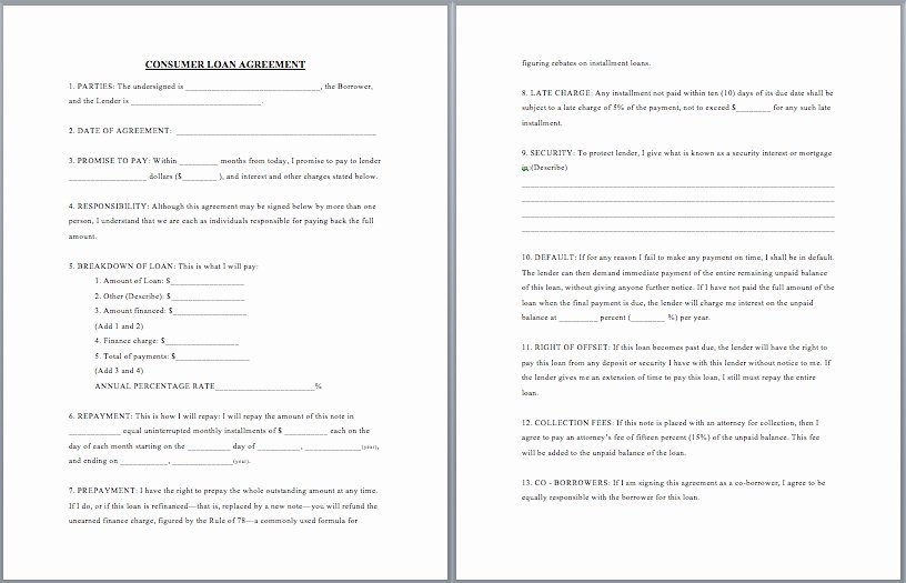 Business Loan Agreement Template Free
