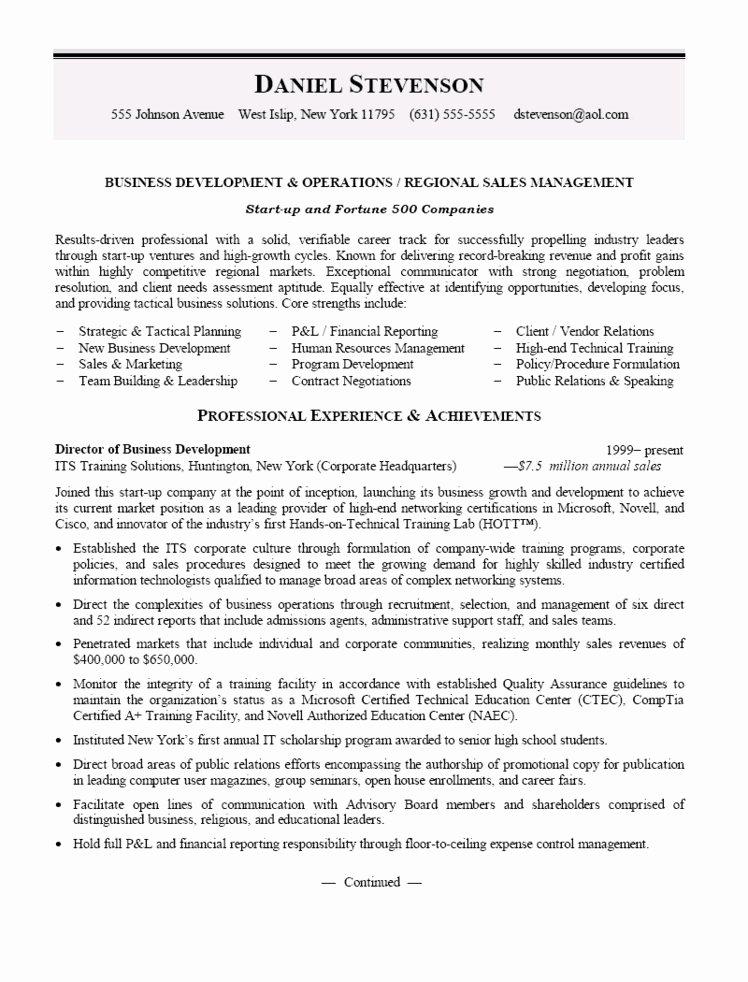 Business Management Resume F Resume