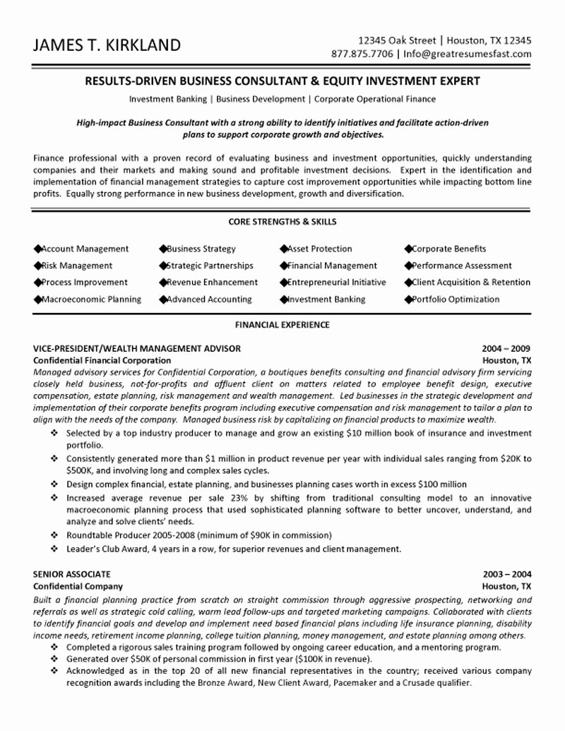 Business Management Resume Template Business Management