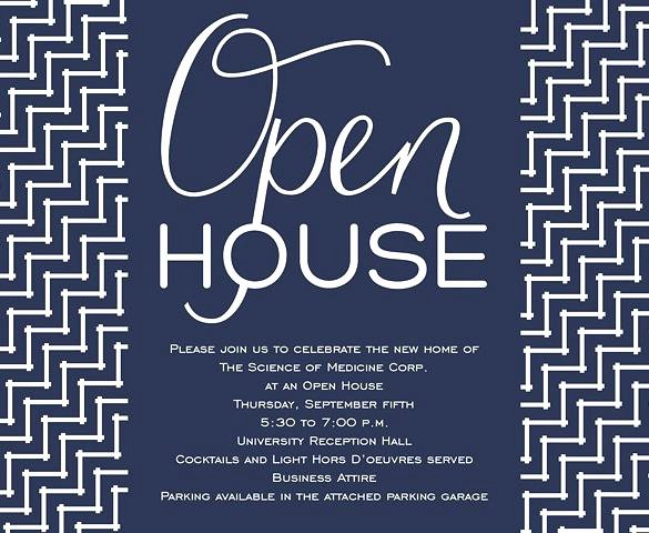 Business Open House Invitation Open House Invitation