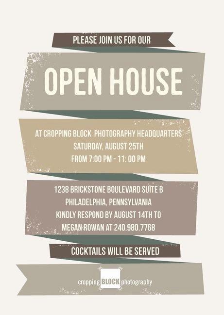Business Open House Invitation Template Templates