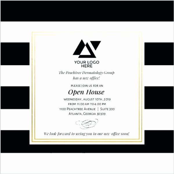Business Open House Invitation Wording Design Templates