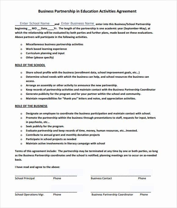 Business Partnership Agreement – 8 Free Samples