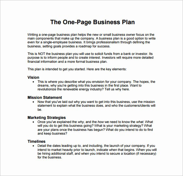Business Plan format Template