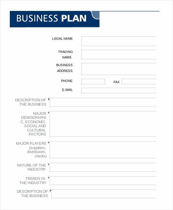 Business Plan Template In Word 10 Free Sample Example