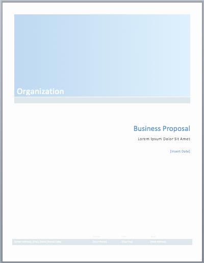 Business Plan Template Microsoft Word
