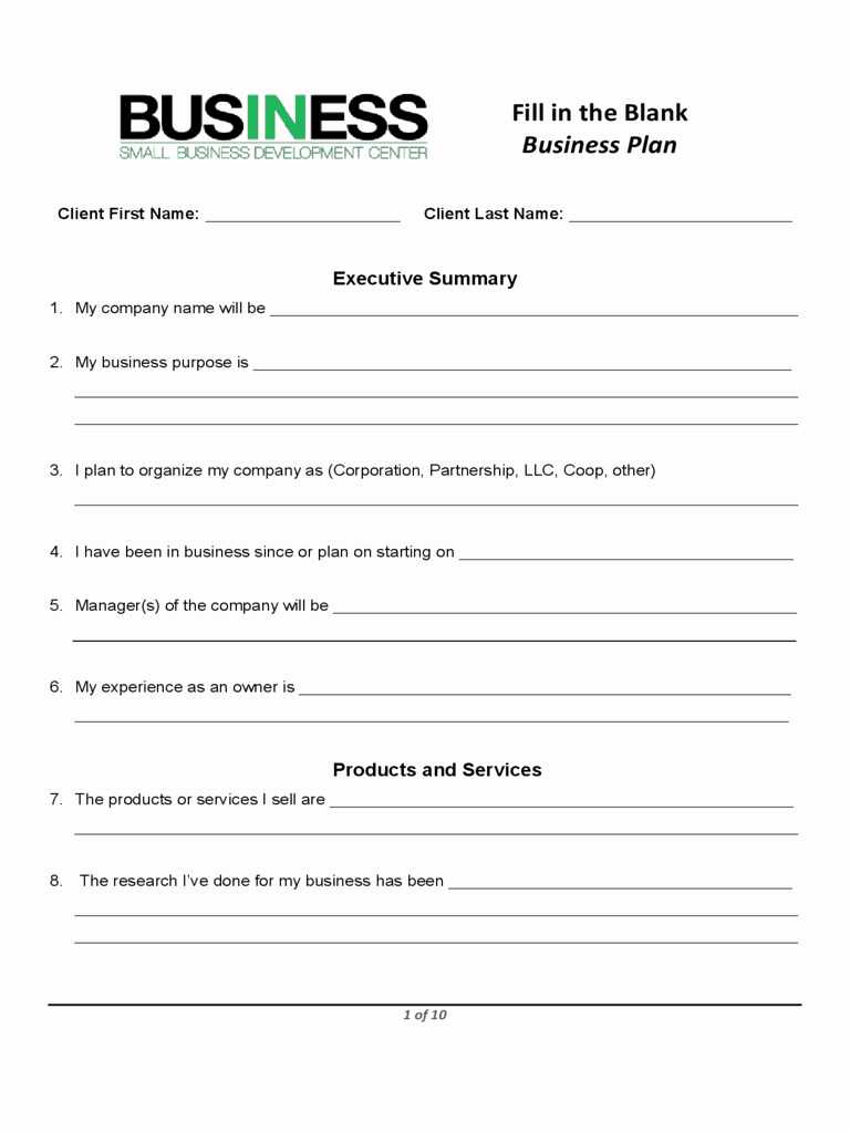Business Plan Template Proposal Sample