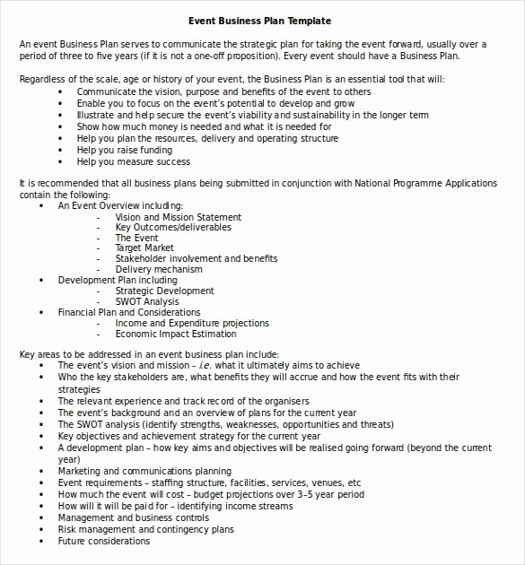 Business Plan Templates 43 Examples In Word