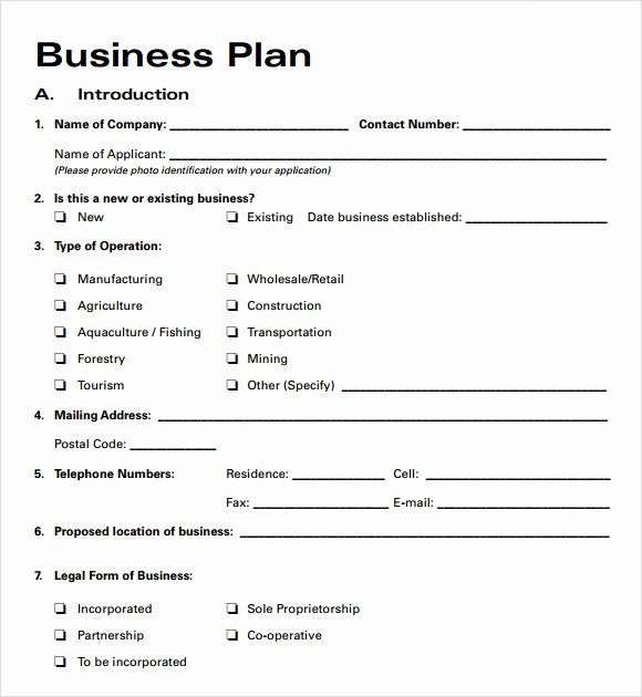Business Plan Templates 6 Download Free Documents In