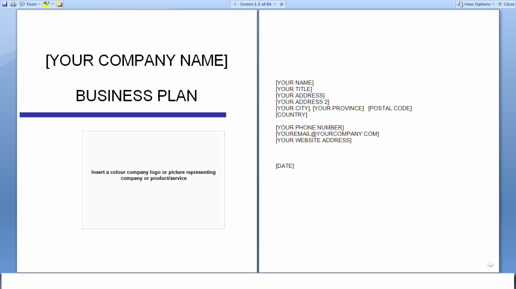 Business Plan Templates Free Download