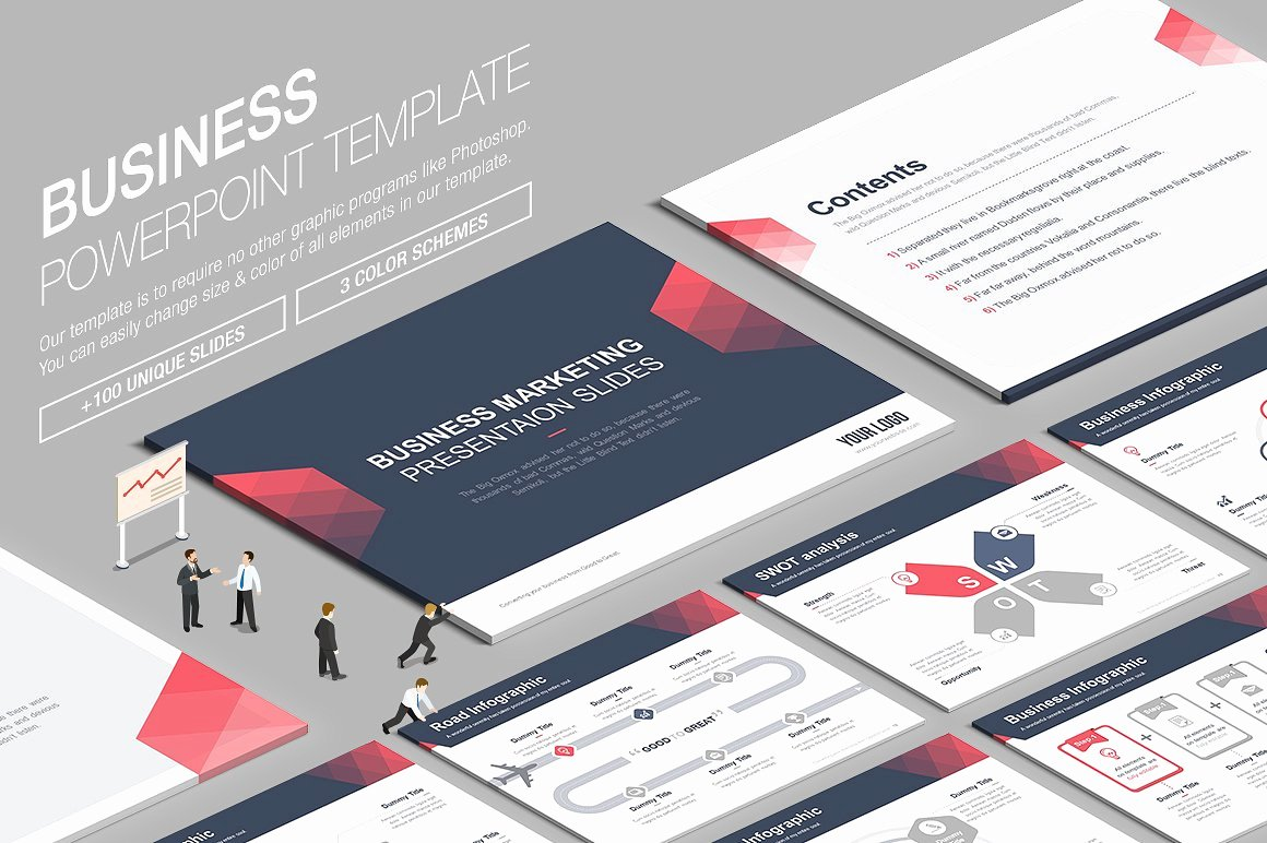 Business Powerpoint Template Vol 7 Presentation
