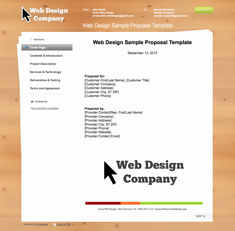 Business Proposal Templates the Proposable Blogthe