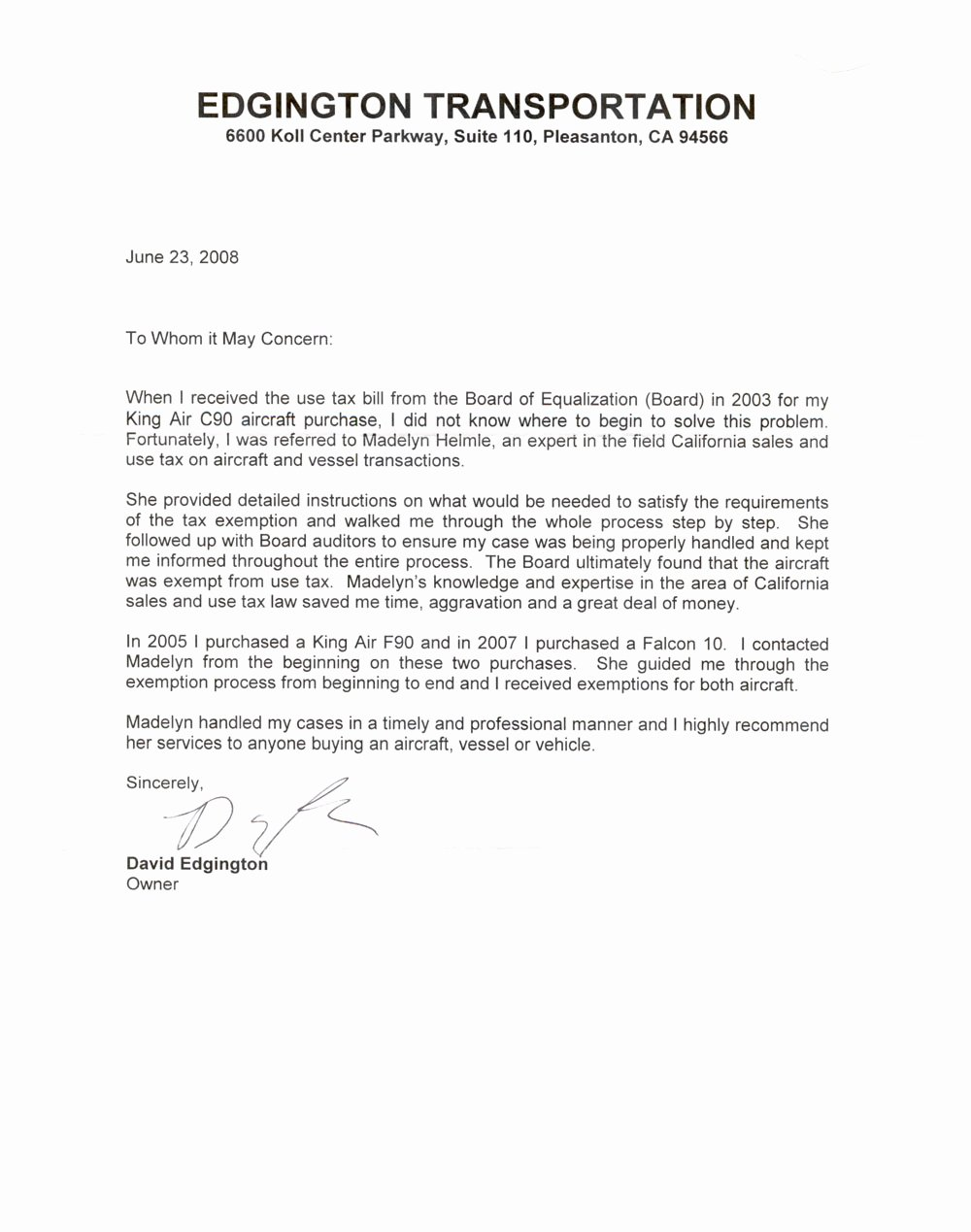 Business Reference Letter Template Install