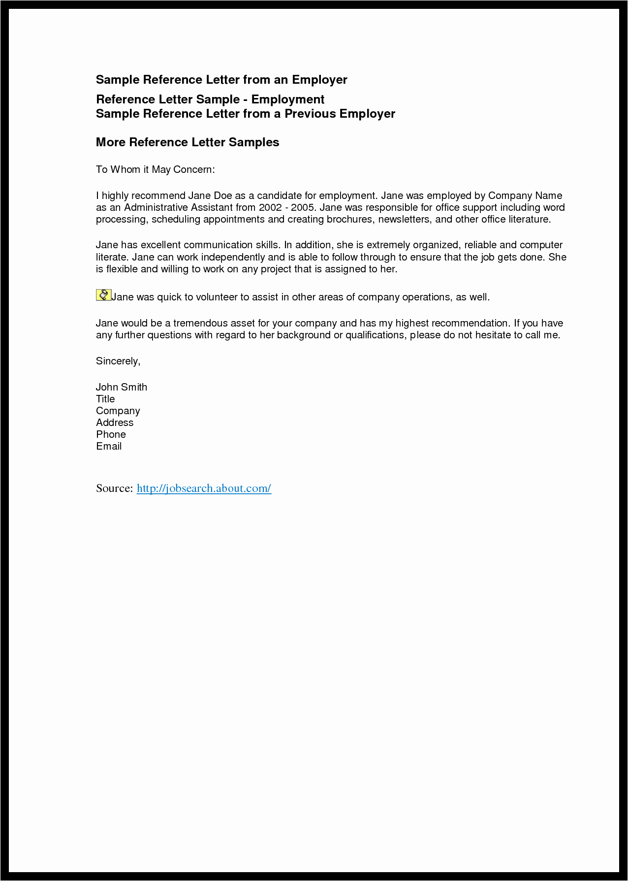 Business Reference Letter Template Mughals