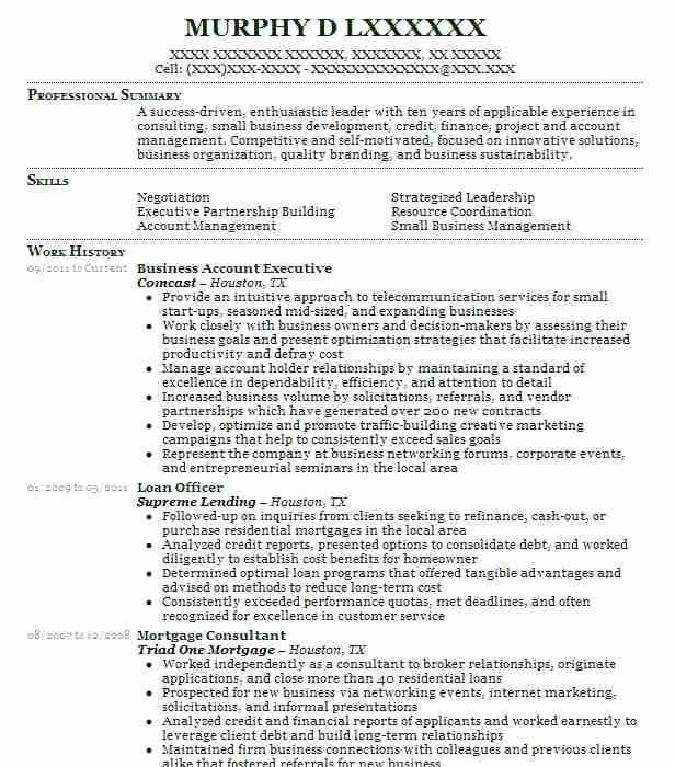 Business Resumes F Resume