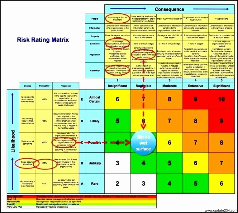 Business Risk assessment Template Excel Template