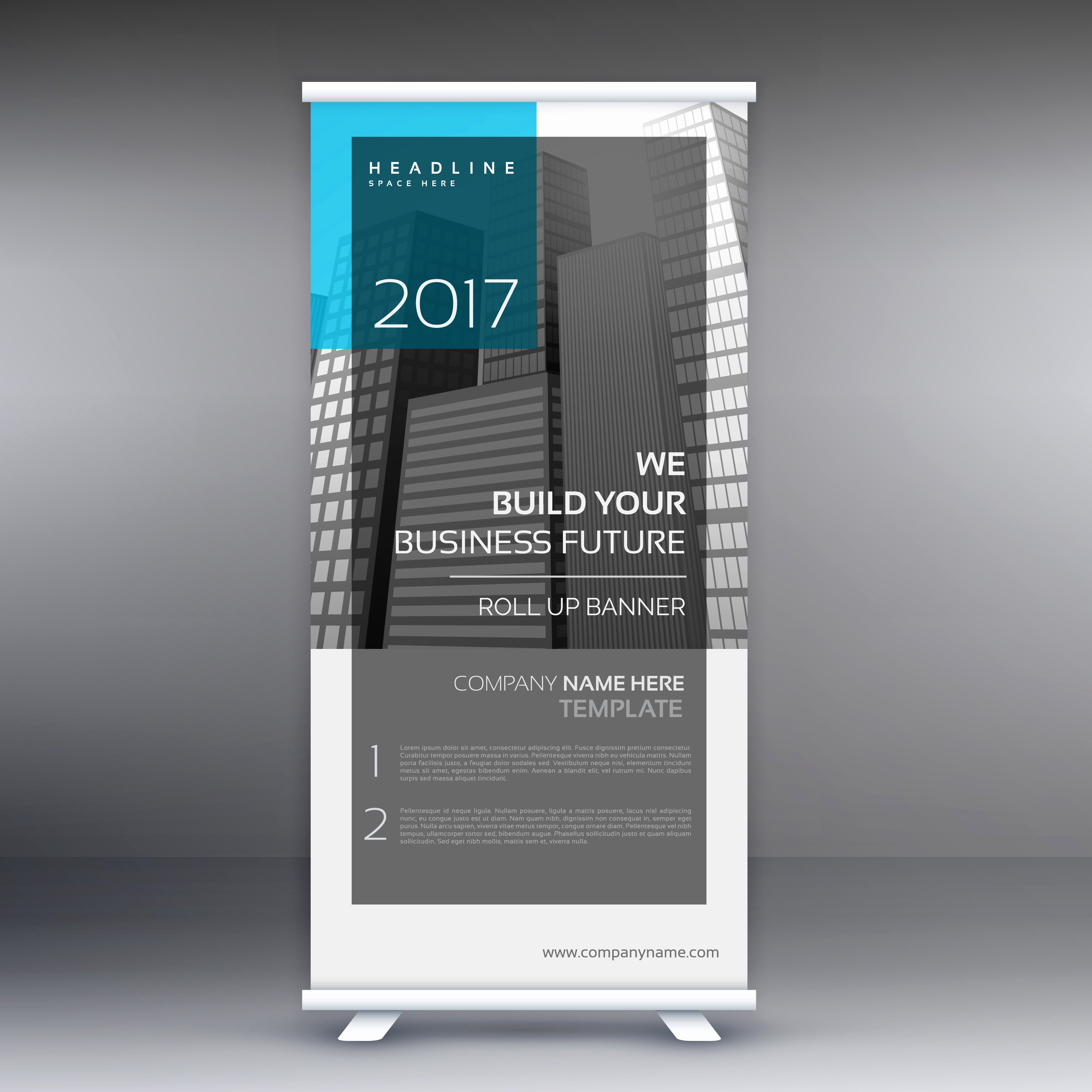 Business Roll Up Banner Presentation Template Download