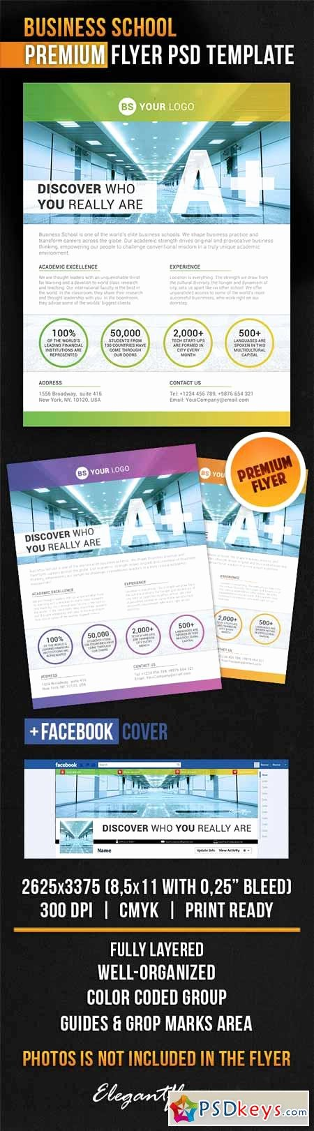 Business School – Flyer Psd Template Cover