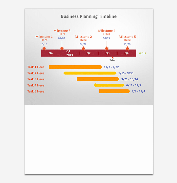 Business Timeline Template 15 for Word Powerpoint