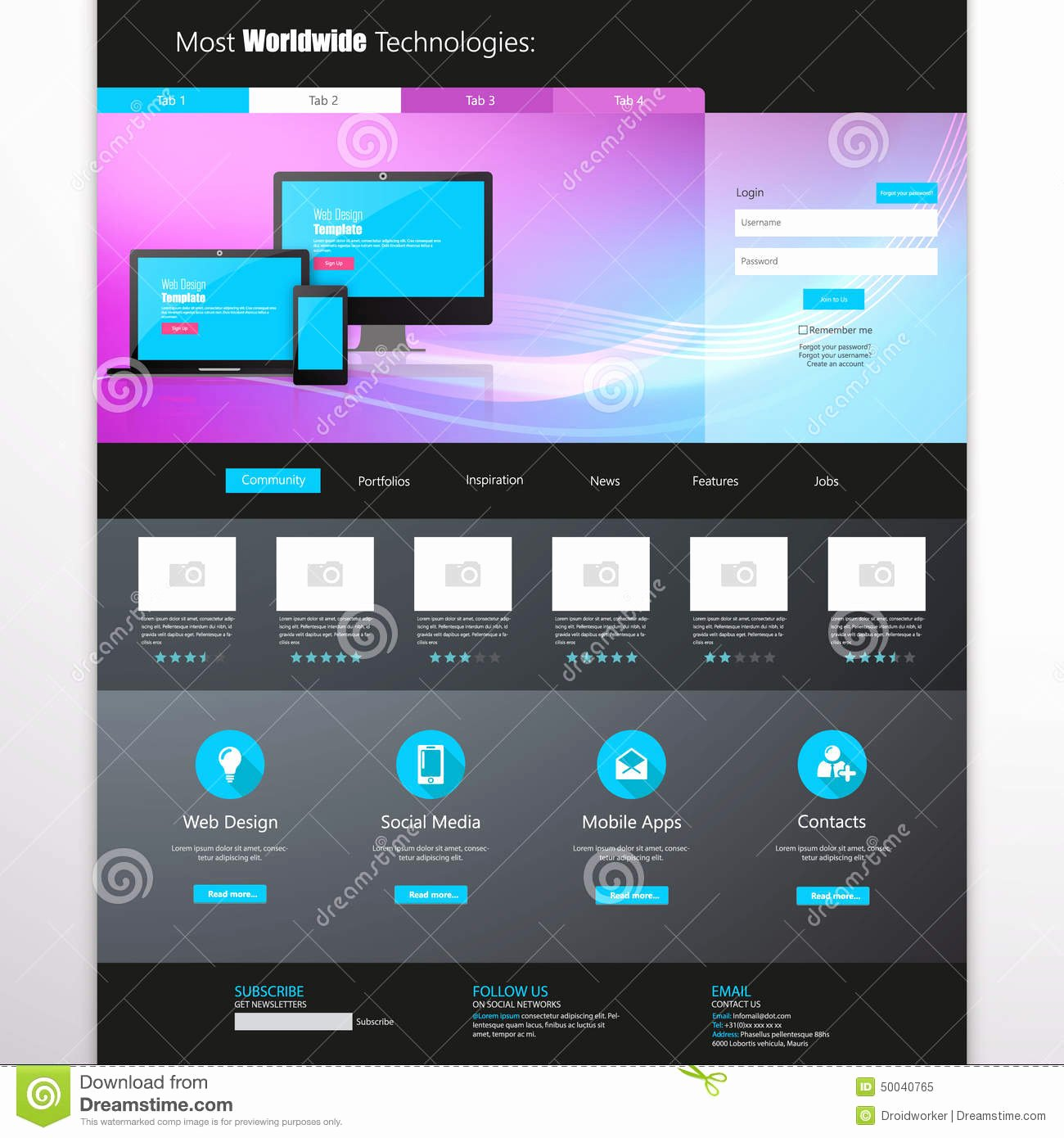 Business Website Template Home Page Design Clean and