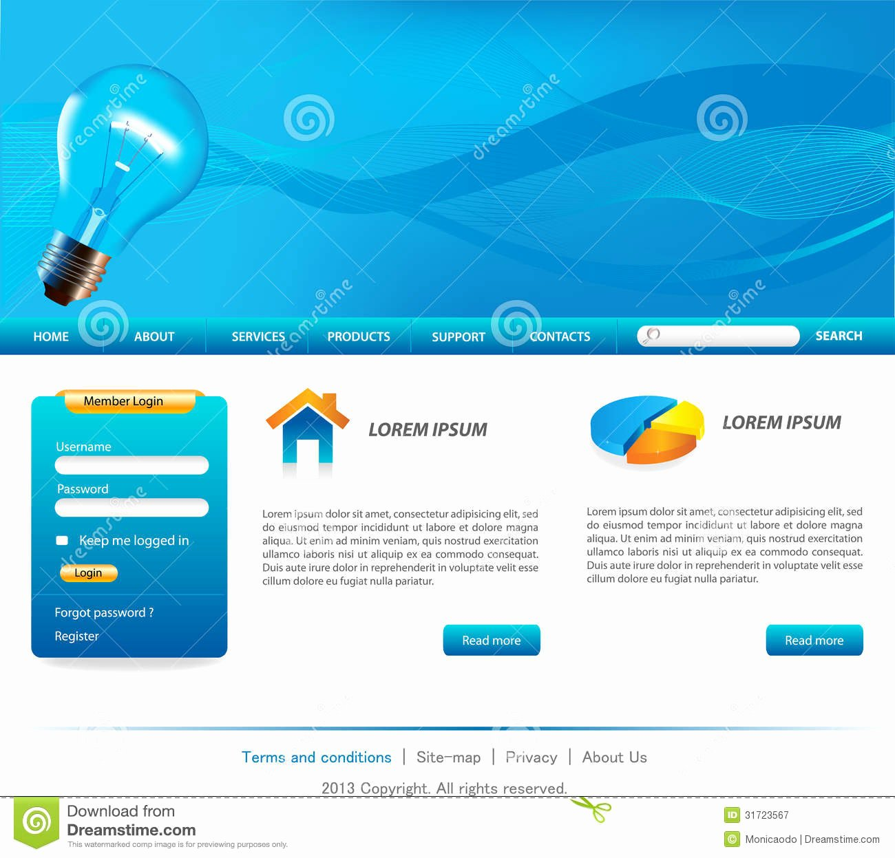 Business Website Templates Royalty Free Stock Graphy