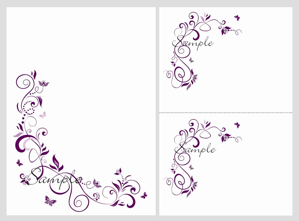 Butterfly Invitations Template