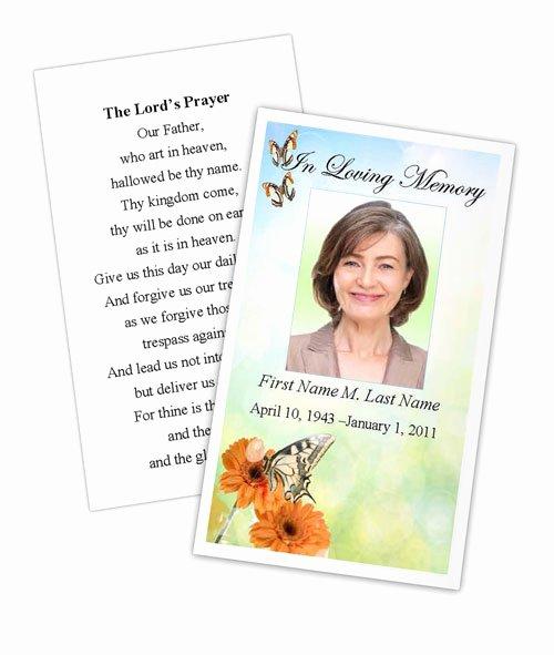 Butterfly Prayer Card Template
