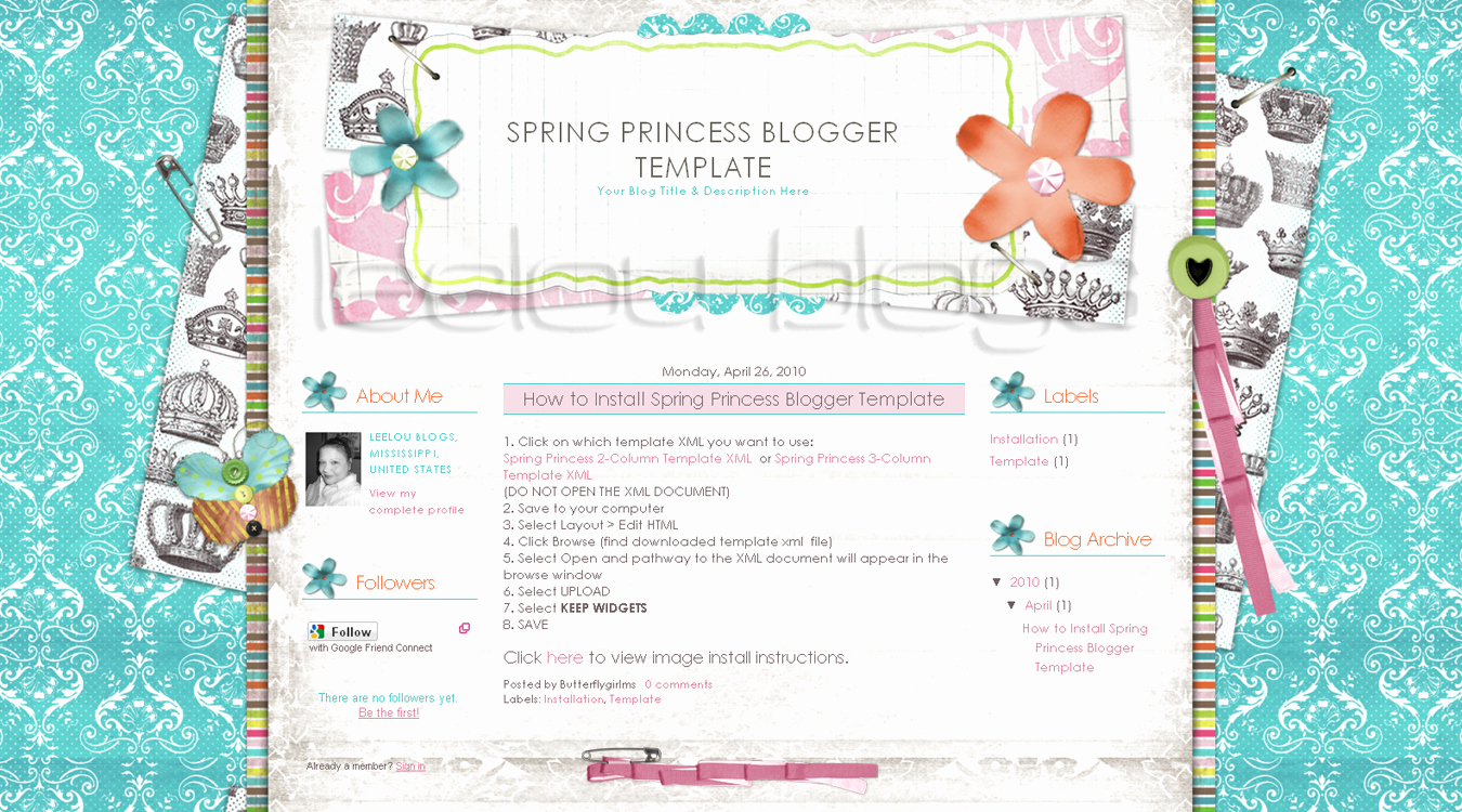 Butterflygirlms Rambles New Spring Blogger Templates