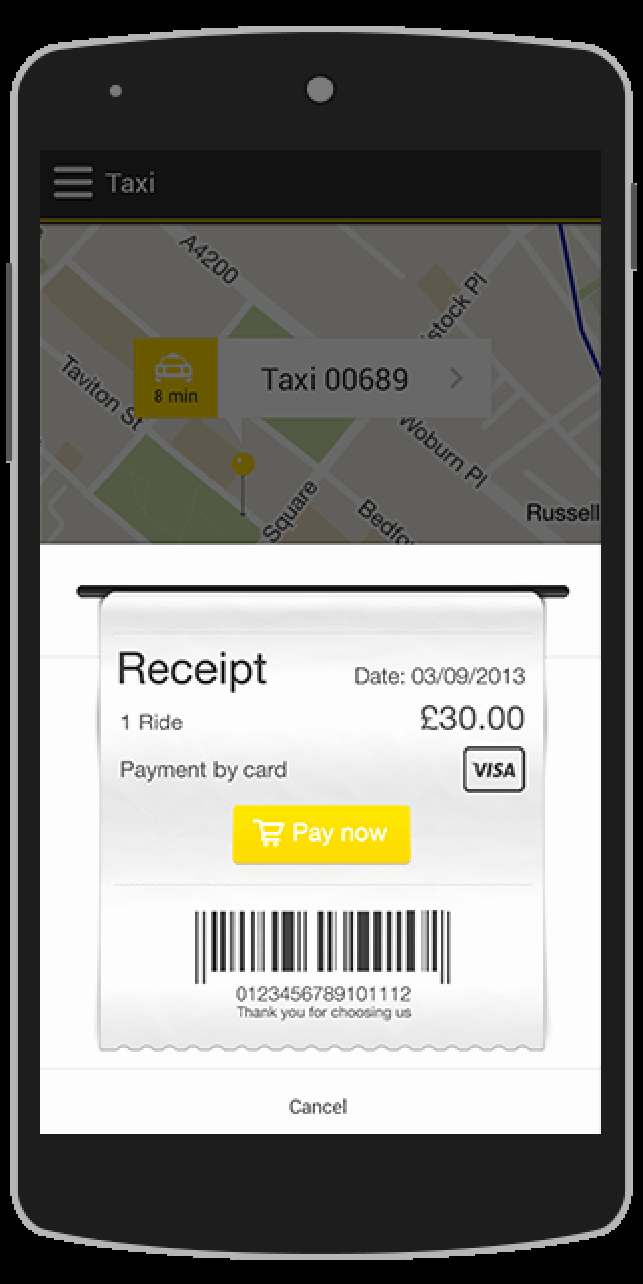 Buy Taxi android App Template Travel