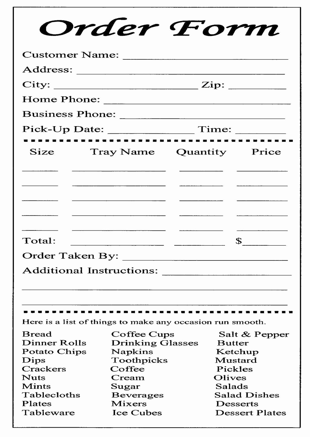 Cake Ball order form Templates Free