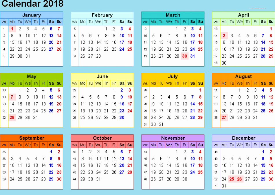 Calendar 2017 2018 Excel Related Keywords Calendar 2017