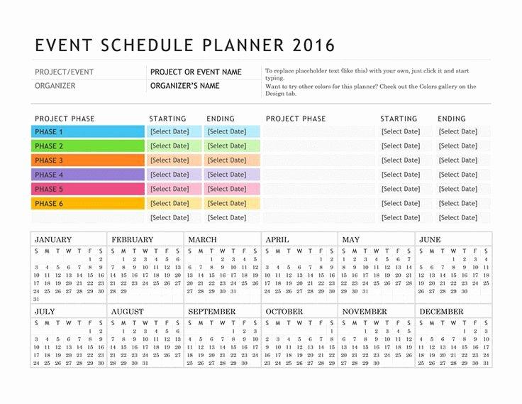 Calendar events Template