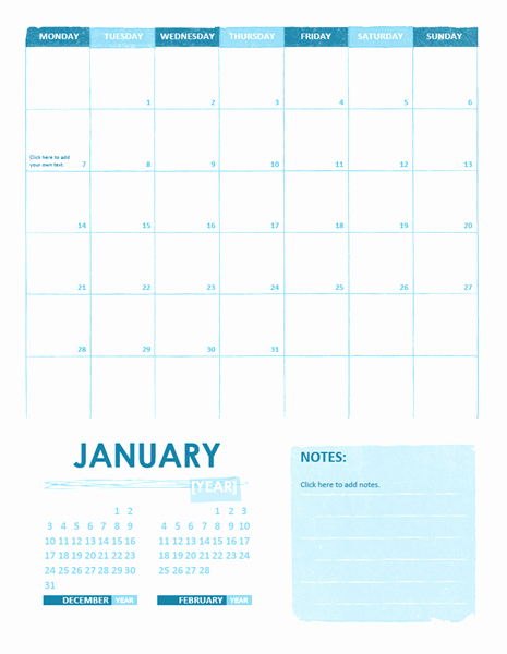 Calendar Template for Fice Microsoft Word Templates