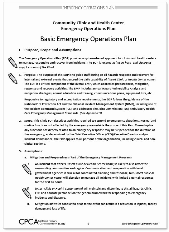 Best S Of Emergency Preparedness Plan Sample – Latter