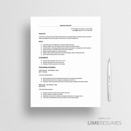 Call Center Resume Sample Limeresumes