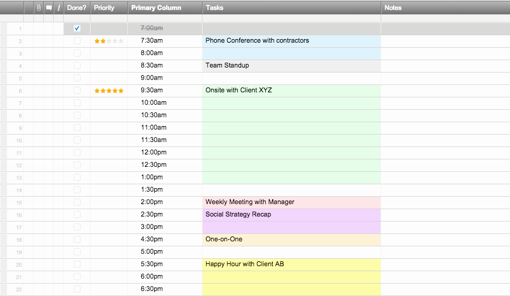 Call Center Schedule Template
