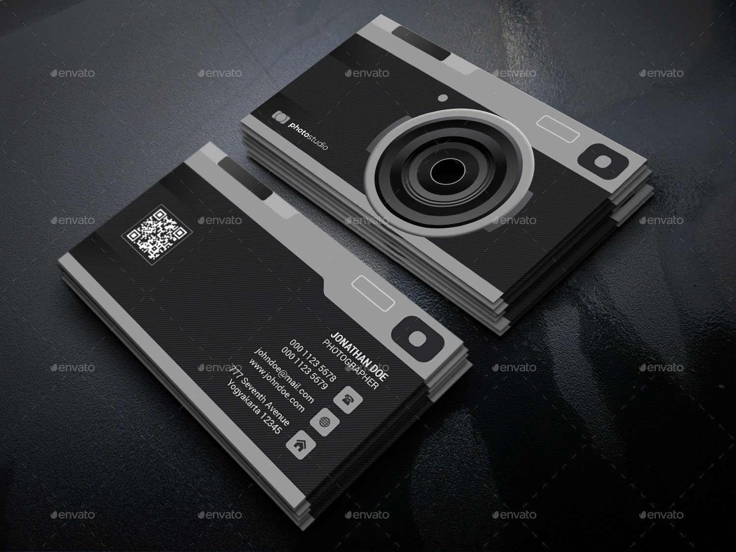 Camera Graphy Business Card by Gowes