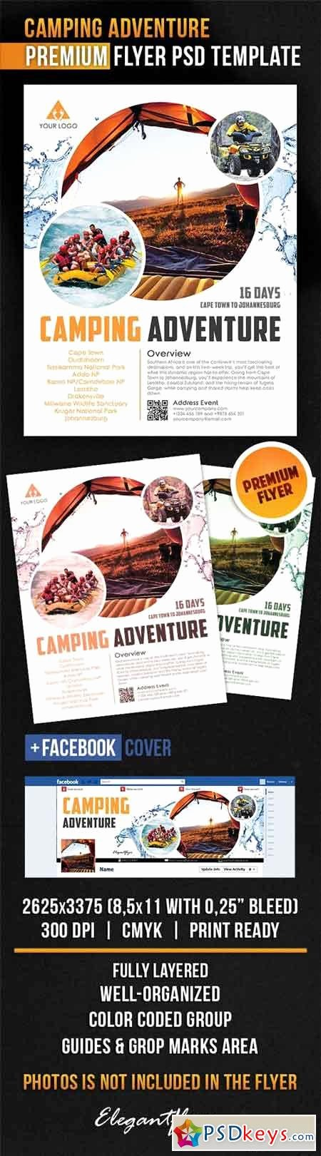 Camping Adventure – Flyer Psd Template Cover