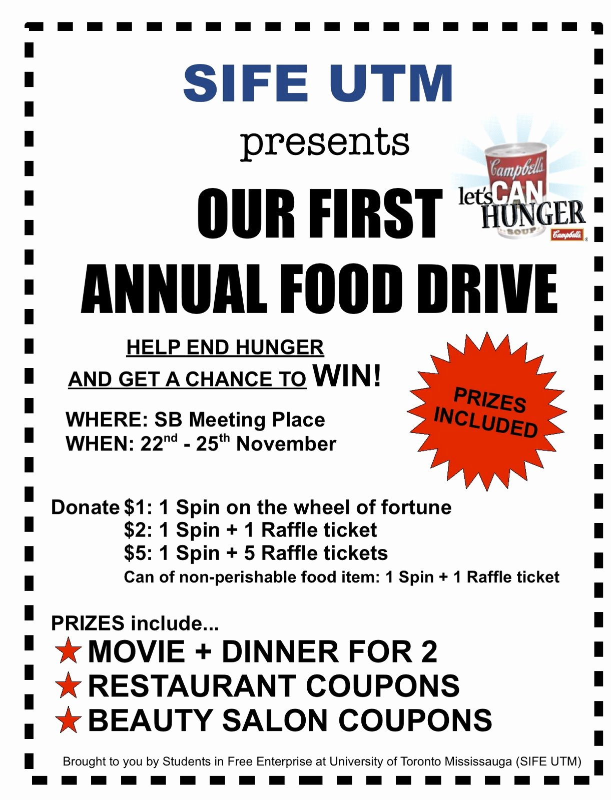 Can Food Drive Flyer Template Portablegasgrillweber