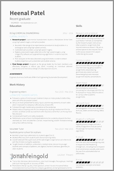 Canadian Resume Sample software Engineer Unique