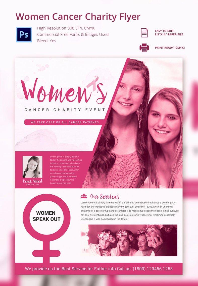 Cancer Benefit Flyer Template Yourweek 0d67f5eca25e