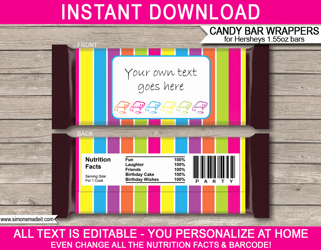 Candy Bar Wrapper Template