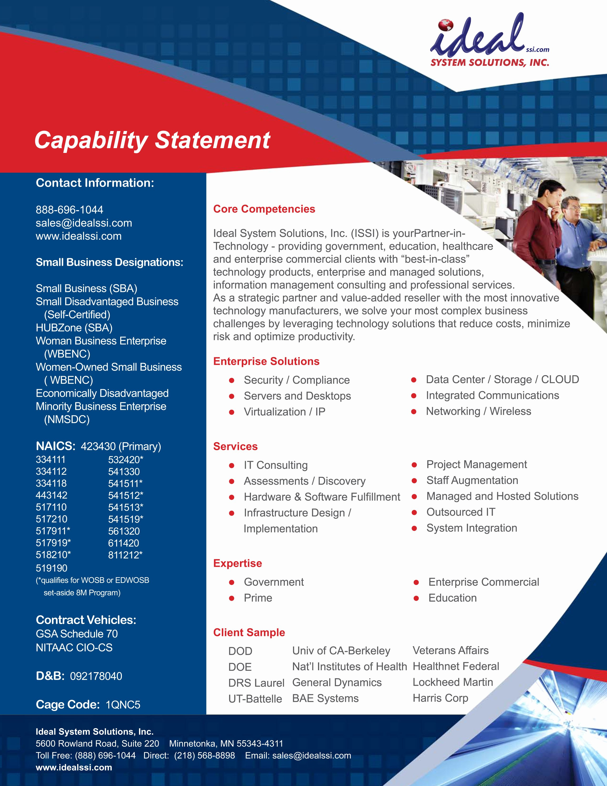 Capability Statement Ideal System solutions Inceal