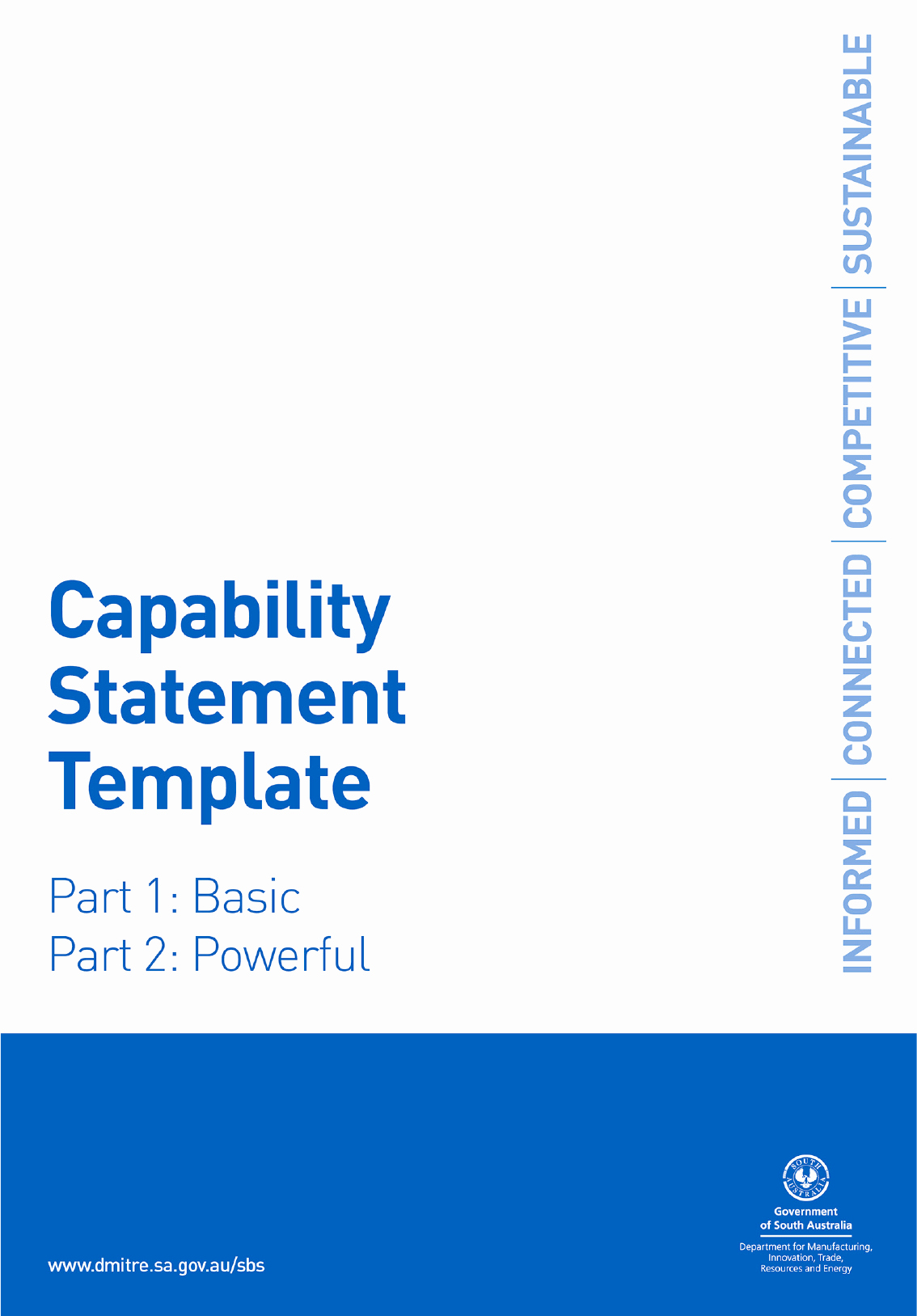 Capability Statement Template In Word and Pdf formats